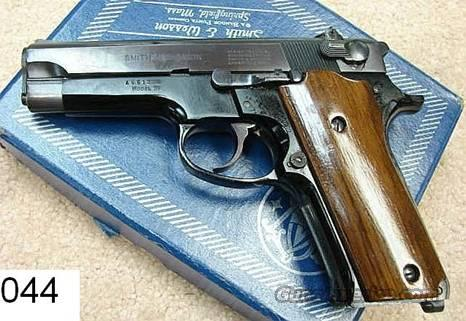 "Smith & Wesson Model 59 Blue 4"" 9mm 15 Shot Exc 1980 Mfg in Box  Guns > Pistols > Smith & Wesson Pistols - Autos > Alloy Frame"