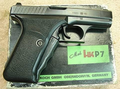Heckler & Koch P7 PSP Squeeze-Cocker VG in Box, 1 Mag & Manual 9mm  Guns > Pistols > Heckler & Koch Pistols > SteelFrame