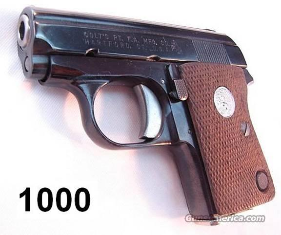Colt Junior .25 Near Mint w/Appropriate Box & Papers  Guns > Pistols > Colt Automatic Pistols (.25, .32, & .380 cal)