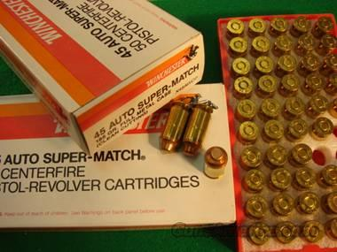 Ammo: Winchester Super Match .45 ACP Box of 50  Non-Guns > Ammunition