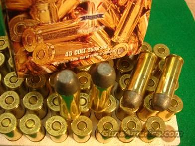 Ammo: American Ammunition .45 Long Colt 250 gr RNL 50/Box  Non-Guns > Ammunition