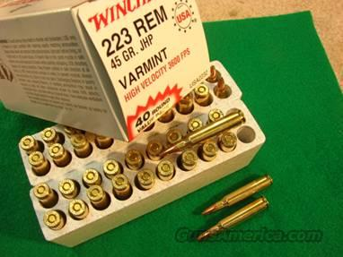 Ammo: Winchester USA .223 – 45 gr Varmint HP Box of 40  Non-Guns > Ammunition