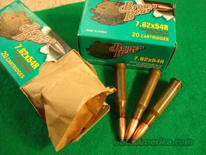 Ammo: 7.62 x 54 Russian Soft Point for Moisin-Nagant Rifles  Non-Guns > Ammunition