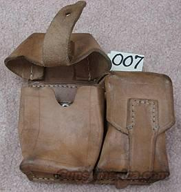 Militaria: Mauser Leather Double Mag Rifle Pouch Excellent ca. 1950s   Non-Guns > Military > Web Gear