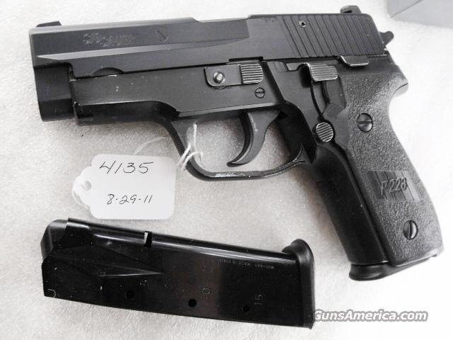 Sig 9mm P228 Black Ice Teflon Finish Swiss Police 16 Shot 2 Magazines 1990 All German Sig Sauer P-228 CA OK  Guns > Pistols > Sig - Sauer/Sigarms Pistols > P228
