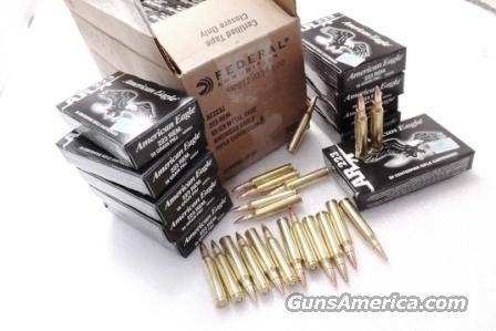 Ammo: .223 Federal American Eagle Tactical 25 Box Factory Case of 500 Rounds with 10 Colt Factory AR-15 Magazines 25x$8.80 + 10x$27 New 223 Remington 5.56 NATO Caliber with Unissued 30 Shot Magazines  Non-Guns > Ammunition