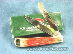 Knife: Case 6254 SS Red Bone Trapper 2004 Silver Script Mint in Box  Non-Guns > Knives/Swords > Knives > Folding Blade > Hand Made