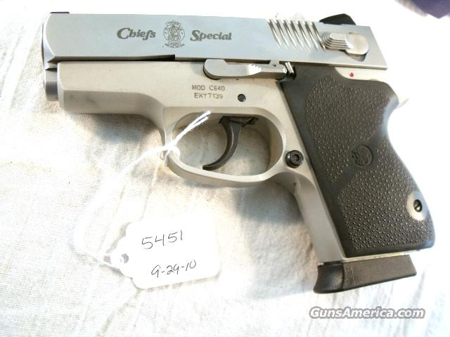 S&W .40 Chiefs Special CS-40 Lwt Sts Exc 2006 Blue Box 2 Magazines  Guns > Pistols > Smith & Wesson Pistols - Autos > Alloy Frame