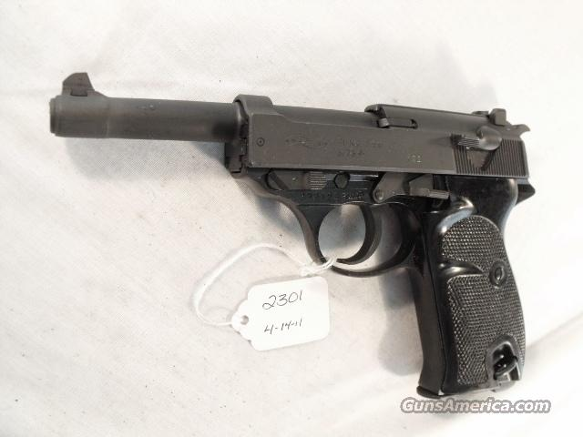 Walther 9mm P-38 variant P1 Lightweight Parkerized VG 1976 P38 P-1 Federal German Police Bundespolizei CA OK  Guns > Pistols > Walther Pistols > Post WWII > P99/PPQ