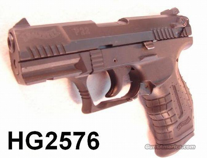 Walther P-22 10 Shot .22 LR VG 2007 Mfg   Guns > Pistols > Walther Pistols > Post WWII > PP Series