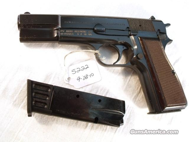 FN Browning 9mm Hi-Power Israeli VG 1987 w/2 Magazines  Guns > Pistols > Browning Pistols > Hi Power