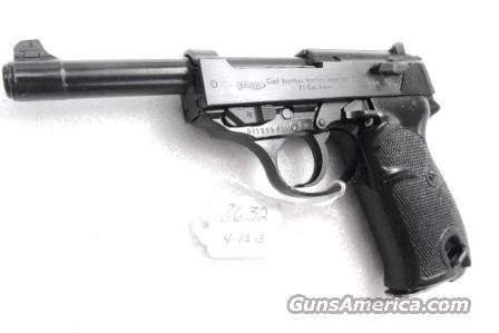 Walther 9mm P38 variant P1 Lightweight Military 1964 P-1 German Federal Border Guard BGS P-38 Descendant CA OK with 1 Factory 8 Shot Magazine  Guns > Pistols > Walther Pistols > Post WWII > P38