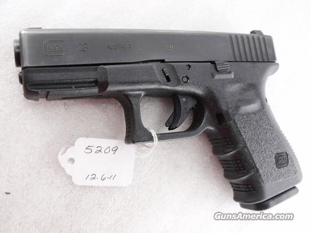 Glock .40 S&W Model 23 Third Generation 14 Shot 1 Magazine PA ca 1999 mfg  Guns > Pistols > Glock Pistols > 23
