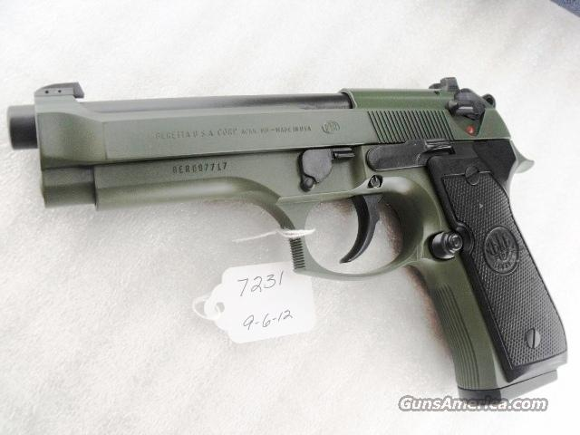 Beretta 9mm model 92FS Black Ice Teflon OD Green Finish 3 Dot 16 Shot 2 Magazines   Guns > Pistols > Beretta Pistols > Model 92 Series