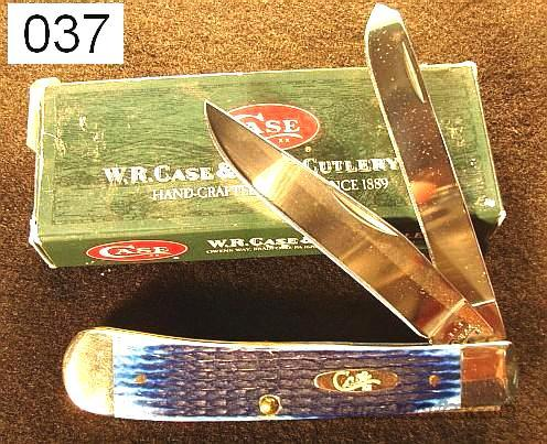 Knife: Case Trapper 6254SS Blue Bone 2004 Mint in Box  Non-Guns > Knives/Swords > Knives > Folding Blade > Hand Made