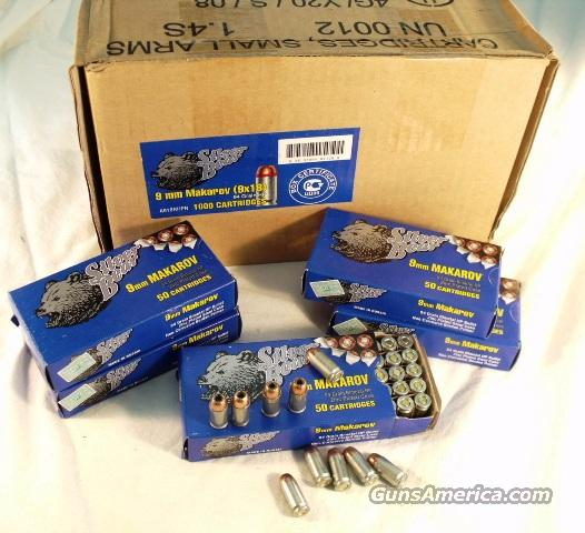 Ammo: 9mm Makarov 1000 Round Factory Case of 20 Boxes 94 grain Jacketed Hollow Point Barnaul Russian Nickel Steel Cases Wolf Competitor 9x18 918 Ammunition Cartridges  Non-Guns > Ammunition
