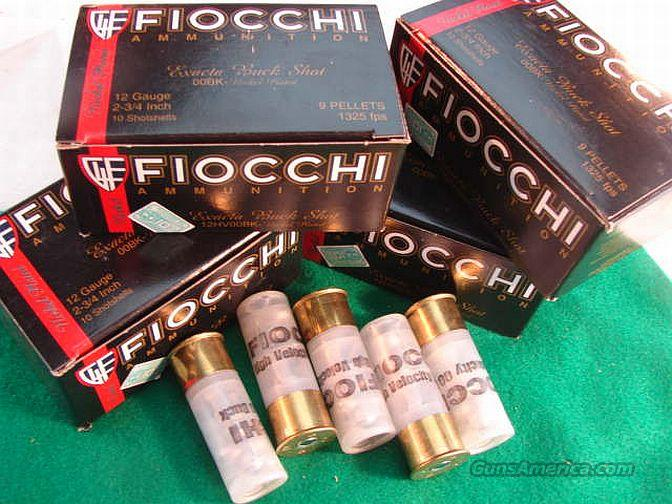 Ammo: 12 gauge 00 Buckshot 250 Round Case of 25 Boxes Fiocchi Exacta Premium Nickel OO Buck twelve ga. Shotshell Shotgun Shell Ammunition  Non-Guns > Ammunition