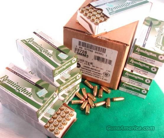 Ammo: 9mm Remington 50 Round Boxes UMC 115 grain FMC Full Metal Case Jacket 9x19 Luger Parabellum Ammunition Cartridges  Non-Guns > Ammunition
