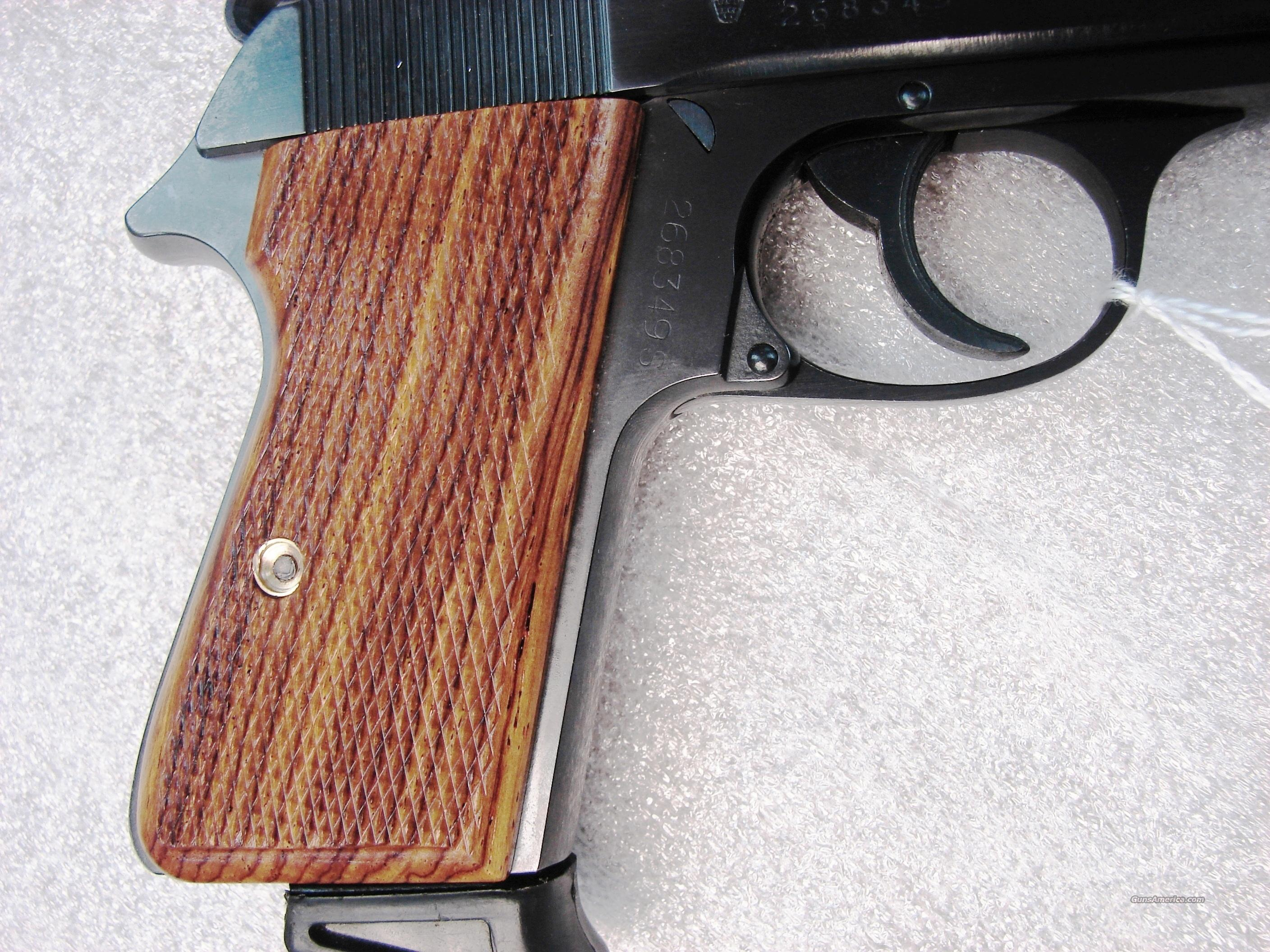Grips Walther PP or PPK/S Grips Herretts Checkered Cocobolo NIB   Non-Guns > Gun Parts > Grips > Other