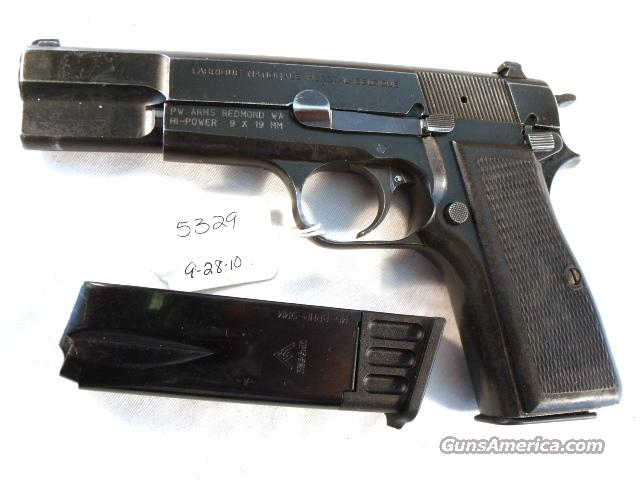 FN Browning 9mm Hi-Power Israeli Good 1996 w/2 Magazines High Power HiPower Fabrique Nationale Belgium Belgian  Guns > Pistols > FNH - Fabrique Nationale (FN) Pistols > High Power Type