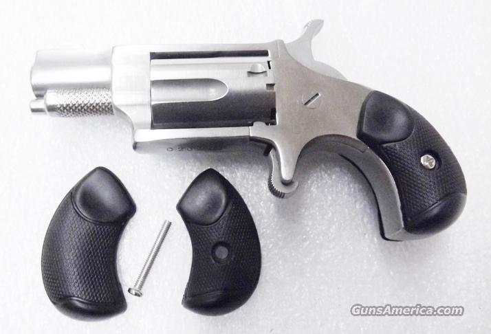 North American Arms .22 Short Long Rifle Mini Revolver Grips Black Rubber with Screw No Magnum Round Butt Only   Non-Guns > Gun Parts > Grips > Other