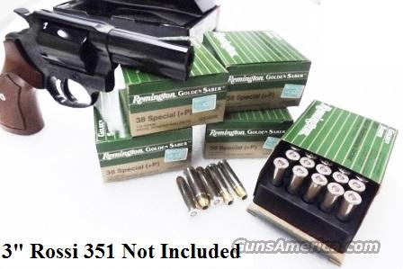 Ammo: .38 Special +P 125 Grain BJHP Remington 125 Round Lot of 5 Boxes Golden Saber Bronze Jacketed Hollow Point 5x$19.80 Flying Ashtray Black Talon type Ammunition Cartridges 38 Spl $19.80per 25 round Box in 5 box Lots GS38SB  Non-Guns > Ammunition
