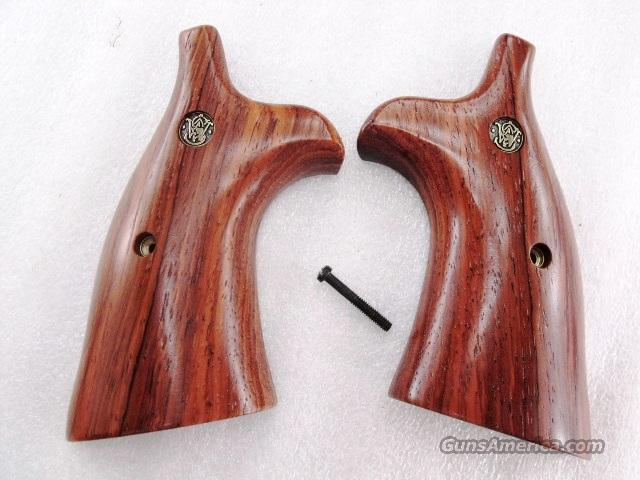 Smith & Wesson N Frame Square Butt Herretts Smooth Cocobolo Target Grips with S&W Logo Models  21 22 24 25 27 28 29 57 58 627 657 629   Non-Guns > Gun Parts > Grips > Smith & Wesson