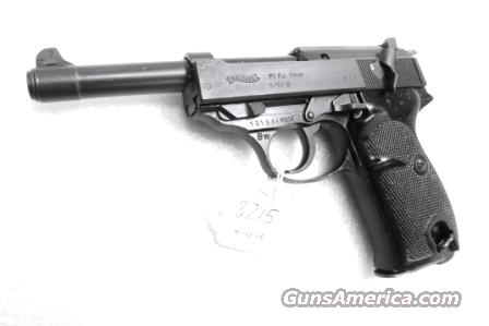 Walther 9mm P38 variant P1 Lightweight Military 1982 P-1 German Federal Border Guard BGS P-38 Descendant CA OK with 1 Factory 8 Shot Magazine Hex Bolt Reinforced Frame	  Guns > Pistols > Walther Pistols > Post WWII > P38