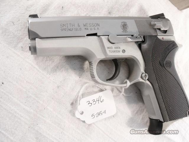 S&W 9mm model 6906 Compact Lightweight Stainless 13 Shot 1 Magazine VG-Exc 1990 California Department of Corrections S&W 469 669 Descendant  Guns > Pistols > Smith & Wesson Pistols - Autos > Alloy Frame