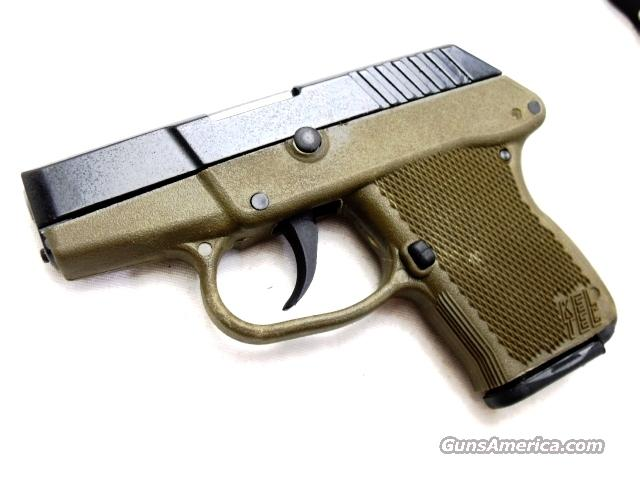 Kel-Tec .380 Auto P3AT Lightweight Thin Frame 7 Shot OD Green & Blue Brand New in Box  Guns > Pistols > Kel-Tec Pistols > Pocket Pistol Type