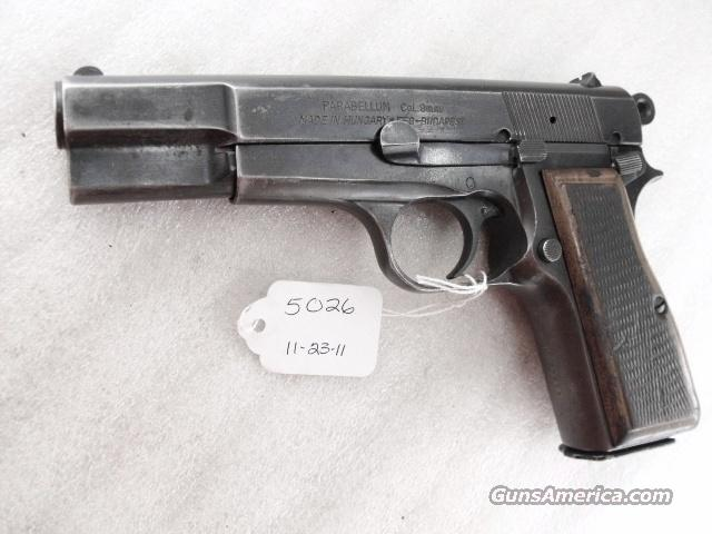FEG Hungary 9mm Browning Hi-Power Copy FEG Hungarian P9M PJK-9HP Commander Hammer 1980s G-VG  Guns > Pistols > FEG Pistols