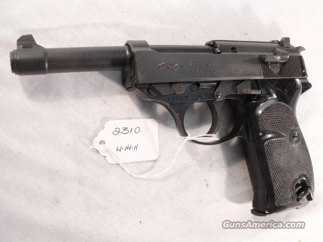 Walther 9mm P-38 variant P1 Lightweight Parkerized 1985 P38 P-1 Federal German Police Bundespolizei CA OK  Guns > Pistols > Walther Pistols > Post WWII > Large Frame Autos