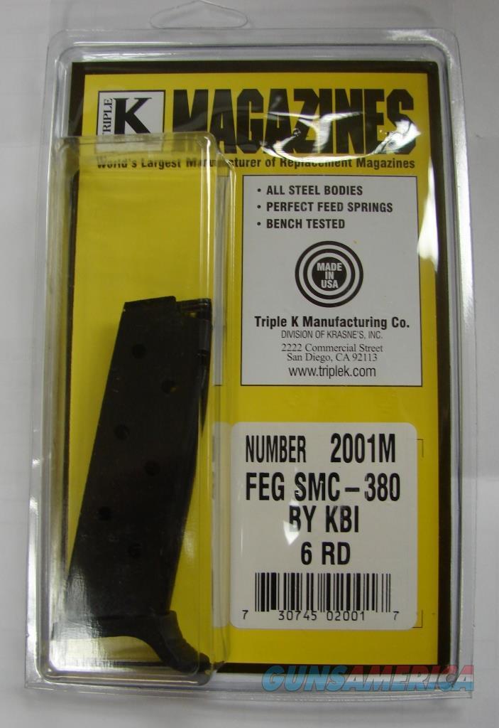 KBI FEG SMC 380 Auto Pistol .380 ACP 6 round Pistol Magazine Triple K Blue Steel Buy 3 Ships Free!  Non-Guns > Magazines & Clips > Pistol Magazines > Other