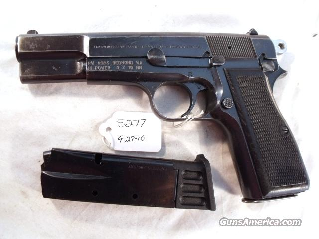 FN Browning 9mm Hi-Power Israeli Good 1987 w/2 Magazines Fabrique Nationale High Power HiPower Belgian Belgium  Guns > Pistols > Browning Pistols > Hi Power