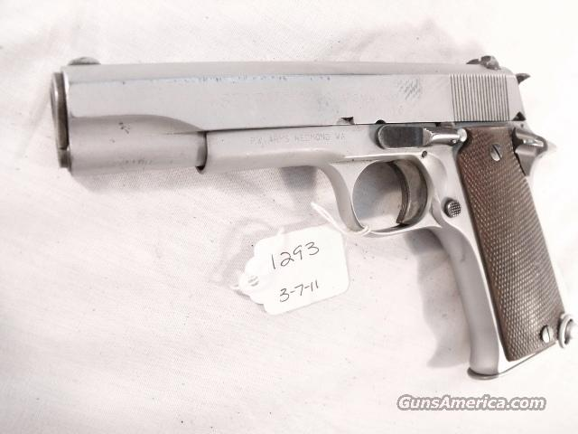 Star 9mm Model BS Colt Government Size Chrome 1971 Israeli Army Police 1 Magazine  Guns > Pistols > Star Pistols