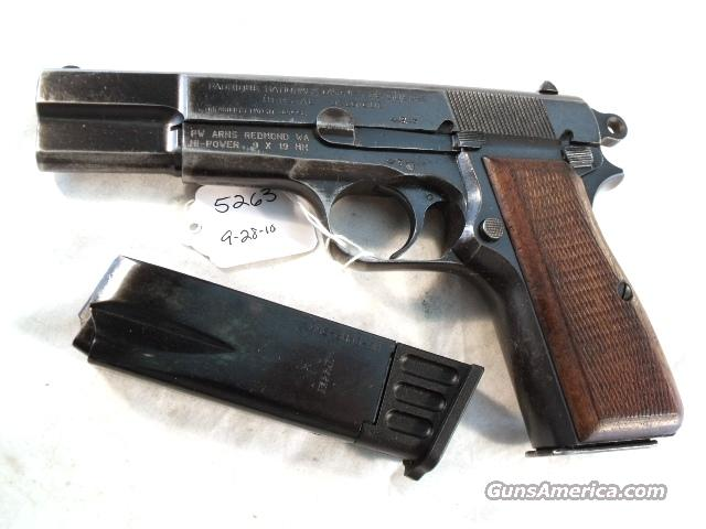 FN Browning 9mm Hi-Power Israeli Good ca 1953 w/2 Magazines  Guns > Pistols > Military Misc. Pistols Non-US