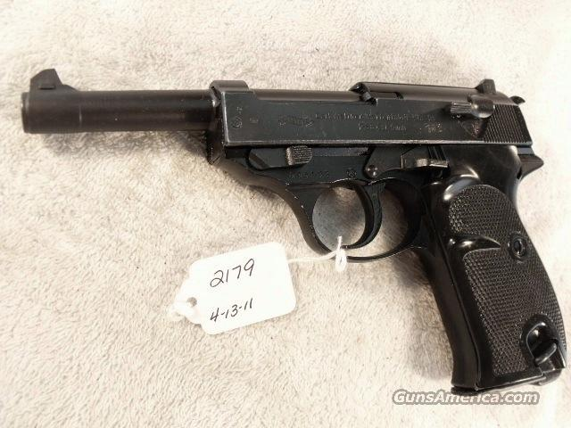 Walther 9mm P-38 Lightweight Parkerized VG 1960 P38 Federal German Police Bundespolizei C&R OK CA OK  Guns > Pistols > Walther Pistols > Post WWII > P-38