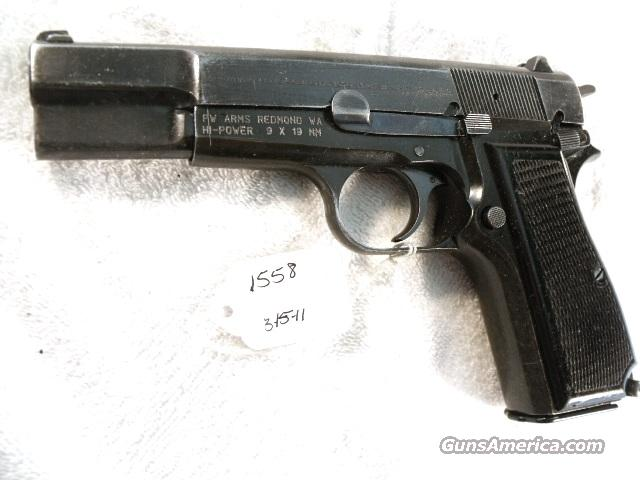 FN Browning 9mm Hi-Power Israeli Police Good Cond. 1996 w/1 Mag HiPower High Power  Guns > Pistols > Surplus Pistols & Copies