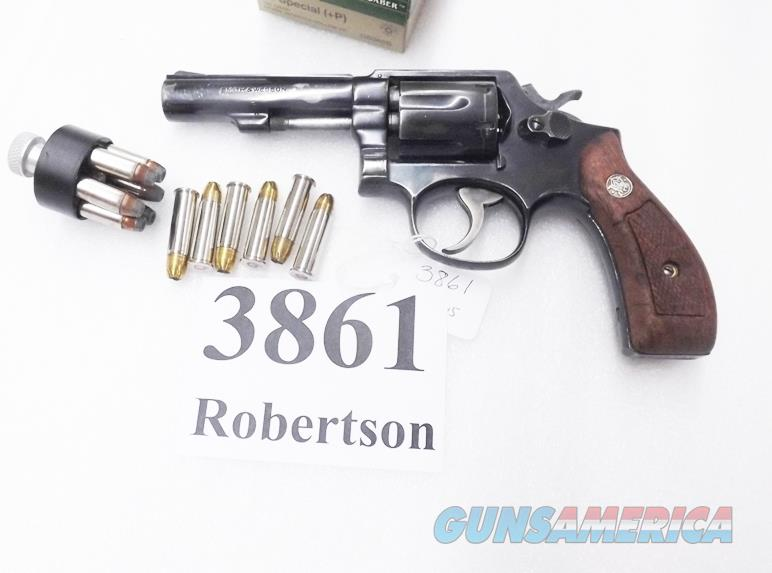 Smith & Wesson .38 Special Model 10-5 Blue 4 inch Heavy Pinned Barrel 1972 Round Butt Special Order Australian Police   Guns > Pistols > Smith & Wesson Revolvers > Model 10