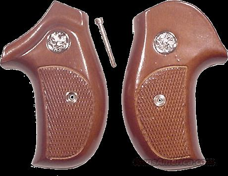 Grips S&W J-Round Combat Sile Walnut 1980s as New Smith & Wesson  Non-Guns > Gun Parts > Grips > Smith & Wesson