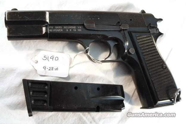 FN Browning 9mm Hi-Power Israeli Good Cond 1985 w/2 Magazines  Guns > Pistols > FNH - Fabrique Nationale (FN) Pistols > High Power Type