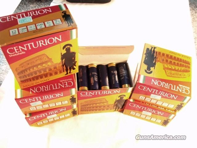 Ammo: 12 gauge #7 1/2 Shot 250 Round Case of 10 Boxes Aguila Centurion Italy 1145 fps Light Loads Shotshell Ammunition Shotgun Shells  Non-Guns > Ammunition
