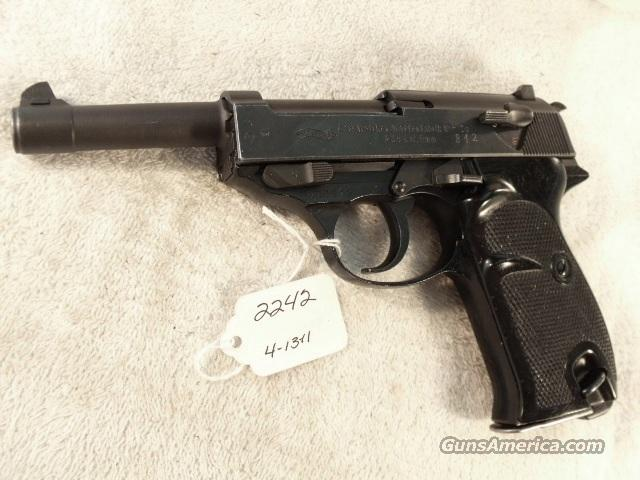 Walther 9mm P-38 Lightweight Parkerized VG 1959 P38 Federal German Police Bundespolizei C&R OK CA OK  Guns > Pistols > Walther Pistols > Post WWII > P-38