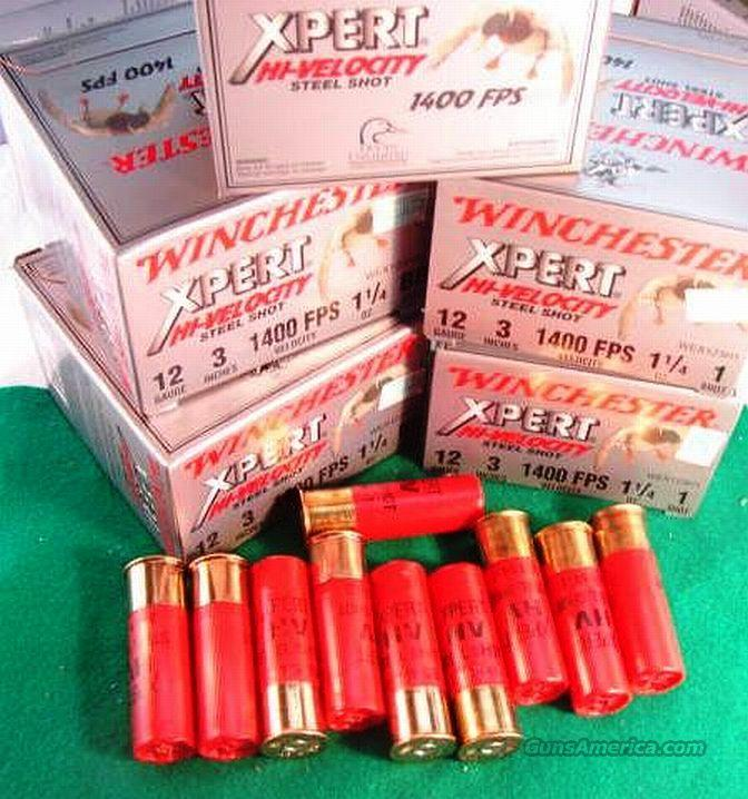 Ammo: 12 gauge Winchester 3 inch Magnum 25 Round Boxes 1 1/4 oz #1 or BB Steel 1400 fps Excellent close range Buckshot substitute Shotshell Shotgun Shells  Non-Guns > Ammunition