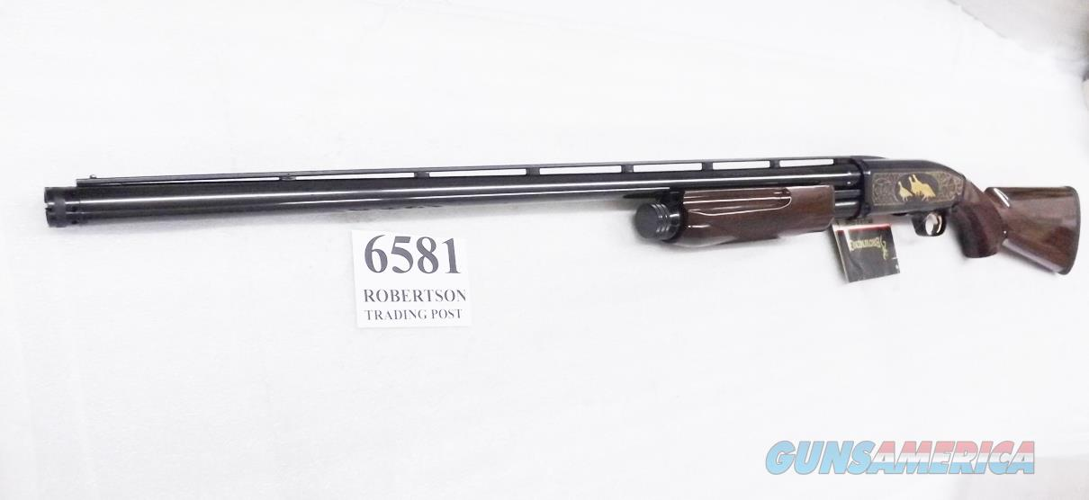 Browning 12 gauge BPS NWTF Field 2000 Production Exc Unfired in Box Medallion Grade Bright Blue & Glossy Walnut Gold Inlay 1 Tube 012275304 type  Guns > Shotguns > Browning Shotguns > Pump Action > Hunting