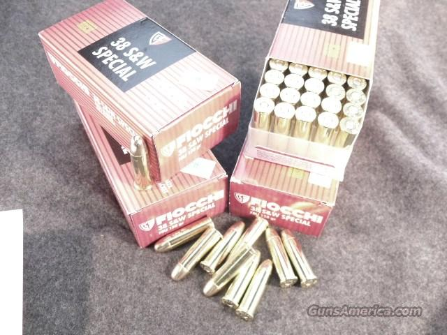 Ammo: .38 Special Fiocchi 158 FMC 500 round 1/2 Case Lot of 10 Boxes Hornady Bullets   Non-Guns > Ammunition