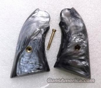 Grips Ruger Bearcat Jay Scott Imitation Black Pearl 1970s Cracked but Repaired VG  Non-Guns > Gunstocks, Grips & Wood