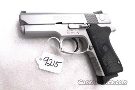 S&W 9mm model 3953 Lightweight Stainless Night Sights Compact Double Action Only VG 1 Magazine Milwaukee Sheriff's Dept Mfg 1999 Smith & Wesson    Guns > Pistols > Smith & Wesson Pistols - Autos > Alloy Frame