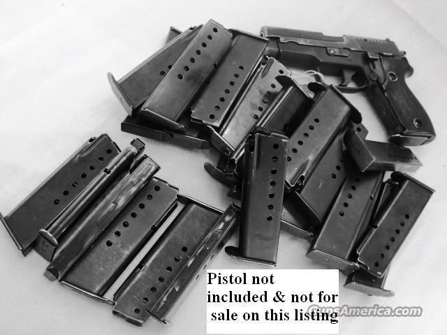 Lots of 3 or more Magazines for Sig P-6 / P225 VG German 8 Shot 9mm Factory Clip for SigArms Sauer model P6 P-225 $29 per on 3 or more  Non-Guns > Magazines & Clips > Pistol Magazines > Sig