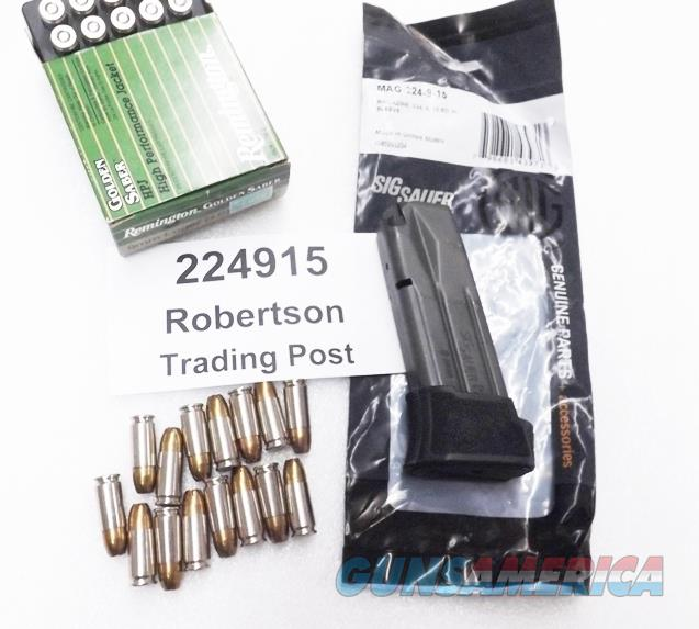 Sig Sauer P224 9mm Factory 15 Shot Extended Magazines MAG224915 for 224 Sub Compact Pistols New NIB 224915 Fifteen Round   Non-Guns > Magazines & Clips > Pistol Magazines > Sig